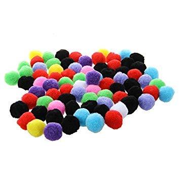 Bola - TOOGOO(R) 80pzs Bola del pompon multicolores redonda