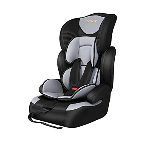 Besrey 3 in 1 Conbination Baby Safety Car Seat Booster Group 1 2 3,Economical Version for Infant,Toddler and Child from 9 Months-12 Years Old Suits 9-36kg(20lbs to 80lbs) Black and Grey