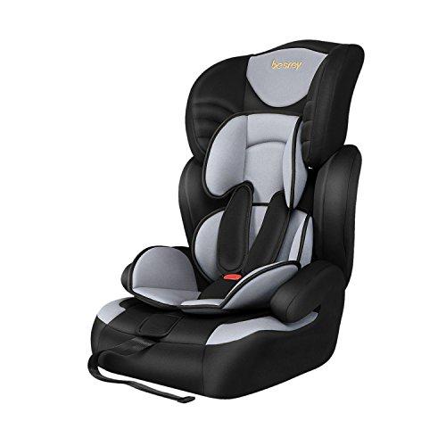 Besrey® Autokindersitz Autositz Kinderautositz 9-36 kg Gruppe 1 2 3 nach ECE R44/04 Schwarz & Grau