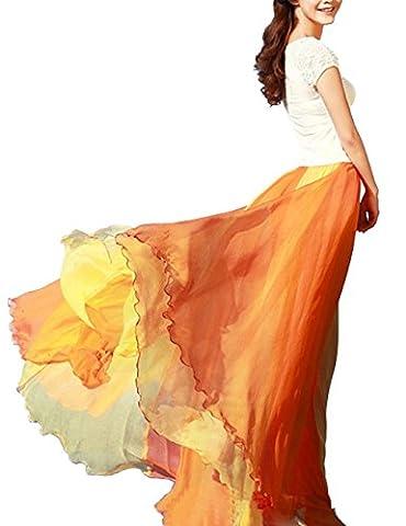 KKia - Jupe - Femme Orange Orange taille unique