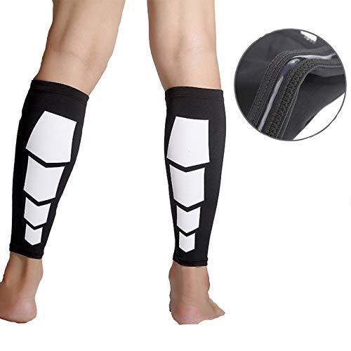 WSLCN Kompression Beinlinge Beinstulpen, für Frauen & Männer Waden-Kompressionsstrümpfe ohne Fuß Wadenbandage Erholung, Sport, Linderung von Wadenschmerzen, Krampfadern 1 Paar