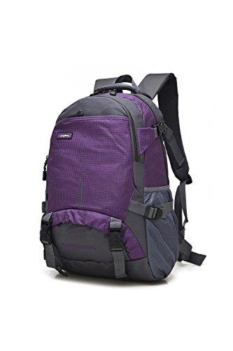25L Small Bergsteigen Rucksack Outdoor Multifunktion Erholung Portable Pack Klettern Reisen Wandern ritt Tasche leisure Pack für Männer und Frauen 6Colors H48 x W33 x T18 CM Purple