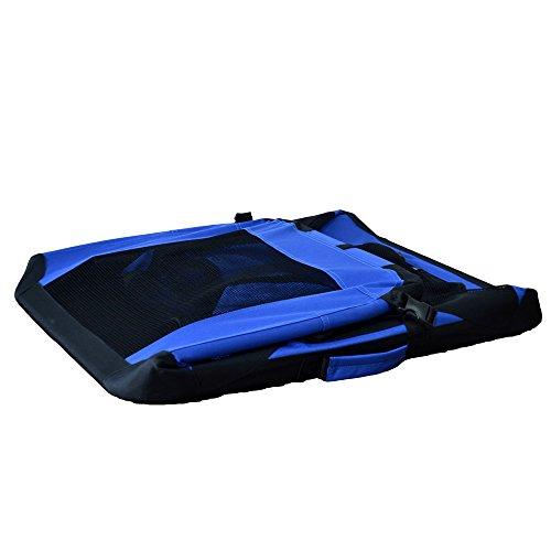 Hundetransportbox Hundebox faltbar Transportbox Autotransportbox Faltbox Transportasche 401-D01 royal blau Grösse: S - 49cm x 34,5cm x 34,5cm -
