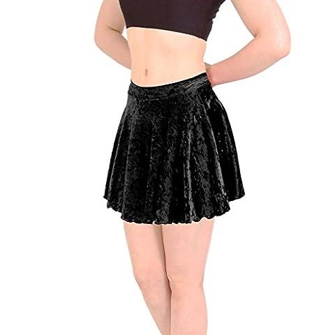 Short Circular Skirt Velour Black size Childs