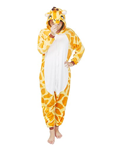 Très Chic Mailanda Unisexe Pikachu Kigurumi Cosplay Combinaison Pyjama ou Déguisement (Pikachu) (M, Girafe)