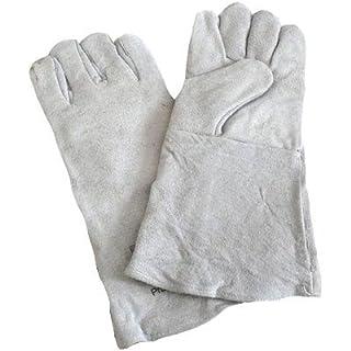 Strahlhandschuhe aus Leder grau