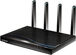 Netgear R7800–100UKS Nighthawk X4S 1733 Gaming-Router (800 + Mbps), Quad-Stream-Performance, Gigabit, 11 AC, Gaming-Router Fastest (AC5300 Mbps)