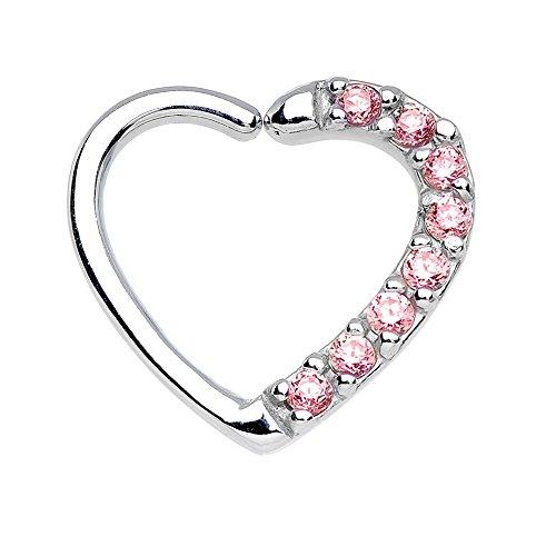 Bodya Bling Rosa Cubic Zirkonia Ohr Daith Tragus Piercing Helix Verschluss Ohrringe Hoop Ringe Body Jewelry (Fake Nose Hoop Ringe 1 4)