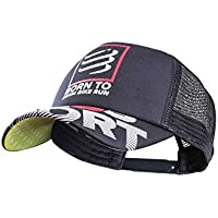 Compressport Gorra Flat Cap Swim Bike Run Negro