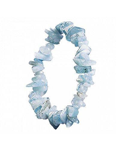 Armband Naturstein Aquamarin