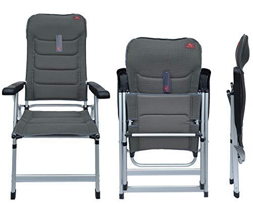 osoltus Soft Touch Comfort Plus - Sillón Plegable de Aluminio para Camping