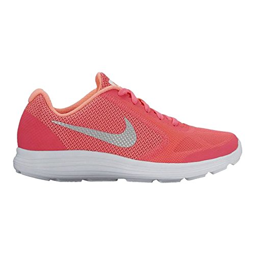 new arrival 54039 289e9 Nike Revolution 3 (Gs), Scarpe da Fitness Bambine e Ragazze Corallo fluo  argento