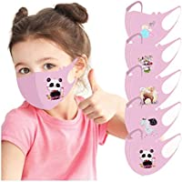 Niño 3D ��à����a��������as prueba polvo Transpirables con Elástico para Los Oídos Lavable Reutilizables Respiratoria algodón al aire libre - Pack 5pcs
