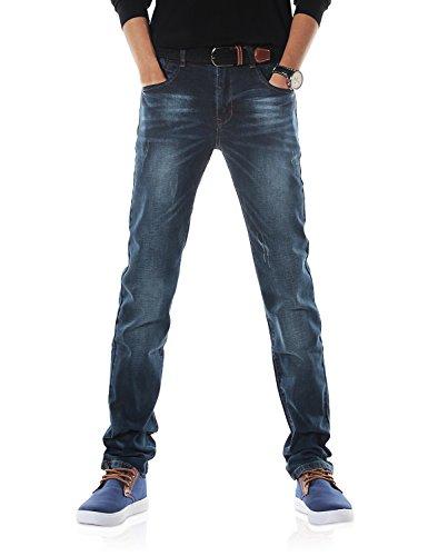 ie Herren Elastisch Schlank Fit Jeanshose Jeans DH3033(34) (Demon Kleid)