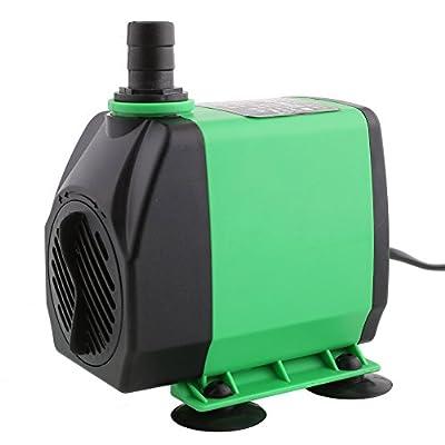 Amzdeal Pompe Submersible Multifonction pr Aquarium Poisson Fontaine 3000L/H 3M 14W 220-240V/50Hz pompe à l'eauUltra-silencieux avec 4 pieds de ventouses - vert