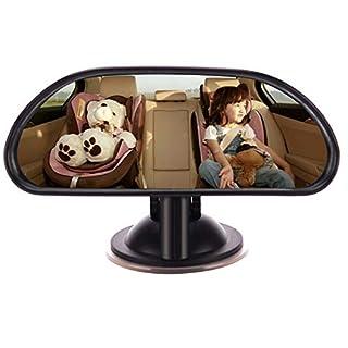 Amorar Baby Rückspiegel Einstellbare Rücksitzspiegel Auto-Rückspiegel für die Babyschale und Kindersitz mit Saugnäpfe Kinder Sicherheit Spiege Sicherheitsspiegel