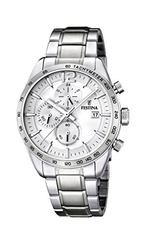 Festina Herren-Armbanduhr XL Chronograph Quarz Edelstahl F16759/1