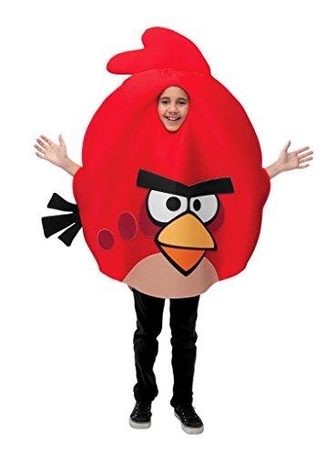 Angry Birds Angry Birds Roter Vogel Kostüm für Kinder Einheitsgröße (Maske Angry Bird)