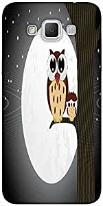 Snoogg Owl Sit On Branch With Baby Owl Designer Protective Back Case Cover Fo...