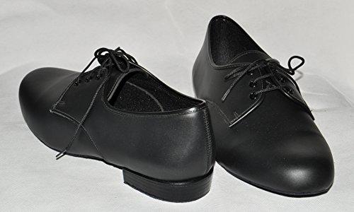 mens black leather ballroom dance shoes size 8 medium suede soles