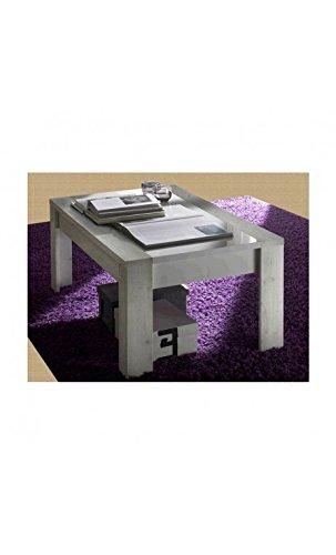 CAMINO A CASA - Table Basse Bois Clair et Verre 122 cm Mars