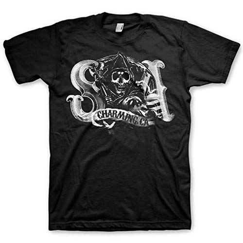 irt Charming Reaper Samcro Logo SOA Schwarz Trikot - Original Offiziel (XX-Large) ()