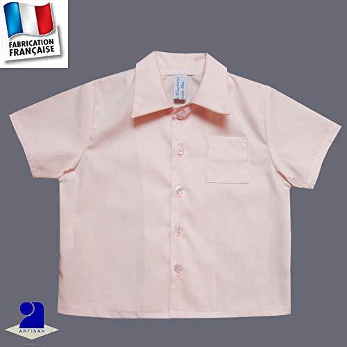 Poussin bleu - Chemise baptême et cérémonie 1 mois-10 ans Made in France  Couleur 08235fd421b