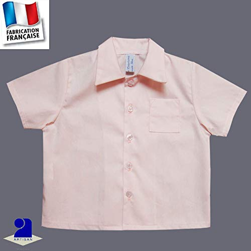 4fdaa2817aa8 Poussin bleu - Chemise baptême et cérémonie 1 mois-10 ans Made in France  Couleur