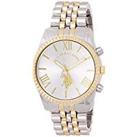 U.S. Polo Assn. Women's Quartz Watch, Analog Display and Gold Plated Strap USC40057