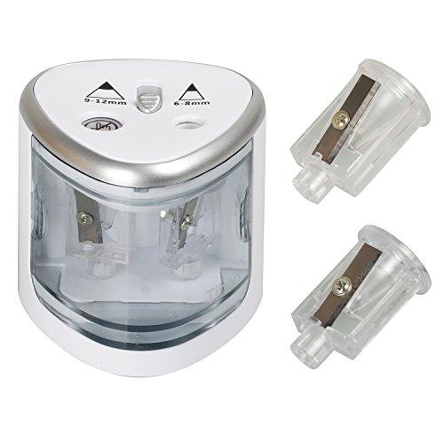 earthsafe automático Sacapuntas doble agujero Sacapuntas eléctrico con función de parada automática...