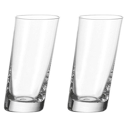 Leonardo 063036 063036 Longdrinkbecher 'Pisa', Glas, groß, 400ml, Klar (2 Stück)