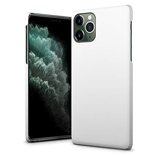SLEO Funda para iPhone 11 Pro MAX Carcasa PC Slim Parachoques Dura Cubierta Protectora Caso para 6.5' iPhone 11 Pro MAX - Blanco