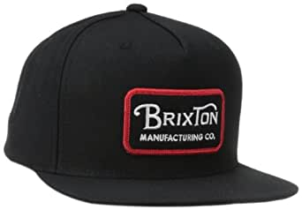 Brixton Men's Grade Snap Back, Black, One Size