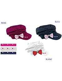 Casquette Gavroche Hello Kitty couleur rose