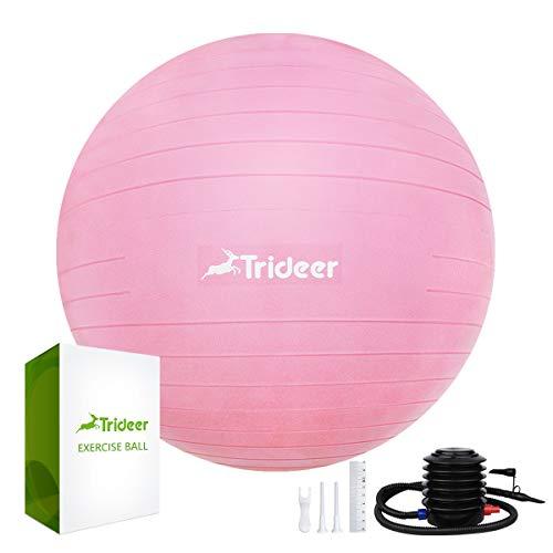 Trideer 45 cm à 85 cm Ballon Suisse de Gym avec Pompe, 500KG Anti-Éclatement/Plusieurs Options de Couleurs