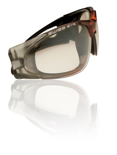 Swiss Eye 14264 Sportbrille Raven, Frame Crystal Grey/orange, Lens Clear GFM