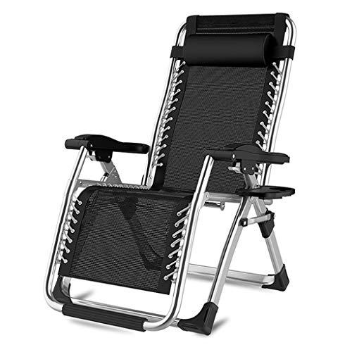 YUER Klappbare Liegestühle for den Garten Klappbarer Liegestuhl, Zero Gravity Chair - Liegestuhl for den Außenbereich for Patio, Garten oder Rasen (Color : N)