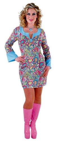 60er 70er Jahre Kleid Happy Girl Hippiekleid Größe S
