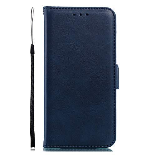 Miagon für Xiaomi Redmi 6A Lederhülle,Luxuriöse Stilvoll Lanyard Premium Pu Leder Kartenfach Magnetverschluss Flip Brieftasche Etui Schutzhülle mit Standfunktion