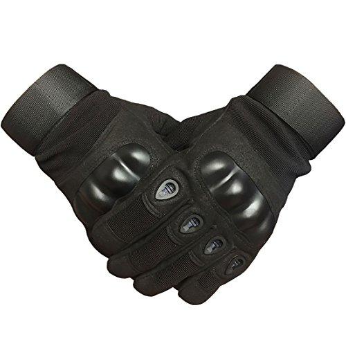 adiew Hard Knuckle Motorrad Touch Screen schwarz Handschuh Full Finger Schießsport Paintball Jagd Reithandschuhe für Damen oder Herren, damen, L (Mesh-jagd Handschuhe)
