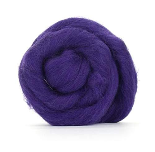 Lila Merino Wolle Roving