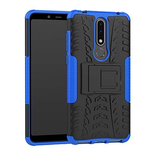 CaseExpert Nokia 3.1 Plus Custodia Cover, Resistente alle Cadute Armatura dell'impatto Robusta Custodia Kickstand Shockproof Protective Case per Nokia 3.1 Plus