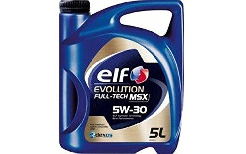 The Elf Company ELF Evolution Full-tech MSX–Huile moteur 5W30–Bidon de 5l