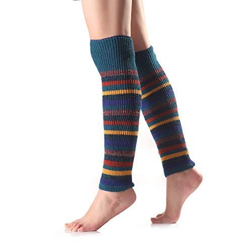 iSpchen Frauen Winter Lange Socken, Über Knie Warme Stiefel Socken Weiche Thermische Beinlinge Schnee Ski Socken Damen Mode Farbe Streifen Grün