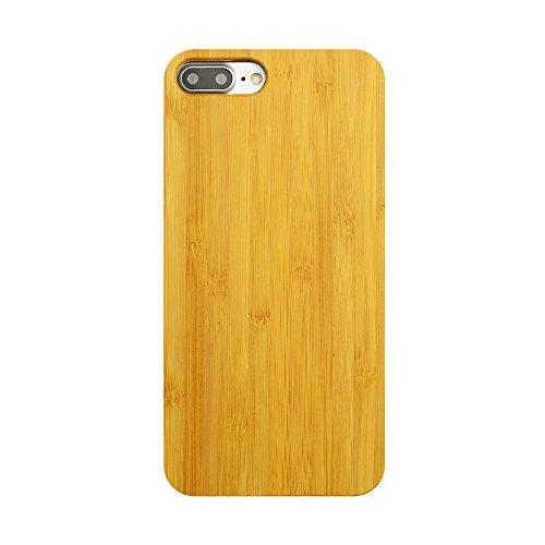 Vero Legno Custodia Case per iPhone 5/5S/SE, Skitic Natura Solid Wood Back Cover con Hard PC Bumper Protettiva Caso Protezione Copertura per iPhone 5/5S/SE - Legno di ciliegio Bambù in oro