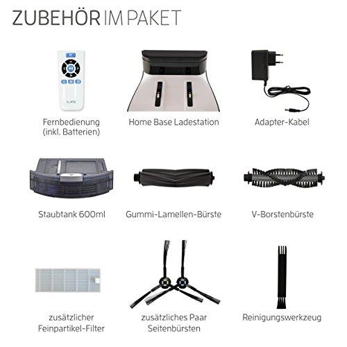 ILIFE A7 Saugroboter mit App Steuerung | WLAN | Fallschutz | automatischer Staubsauger Roboter mit Ladestation | ideal für Hartböden wie Laminat etc | Leise | 600ml Staubtank | LCD Display, schwarz - 8