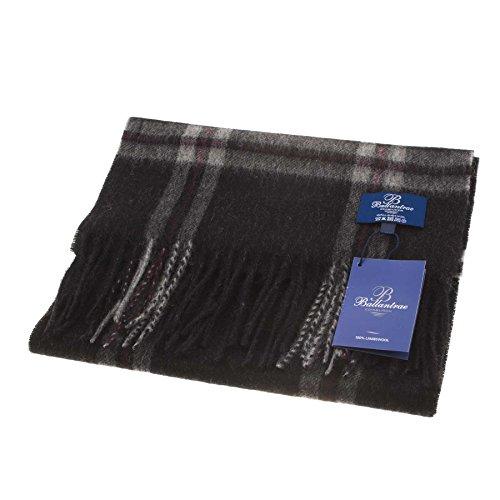 - 41w8mo5f5rL - Ballantrae 100% Lambswool Tartan Scarf Thomson Charcoal (One Size)