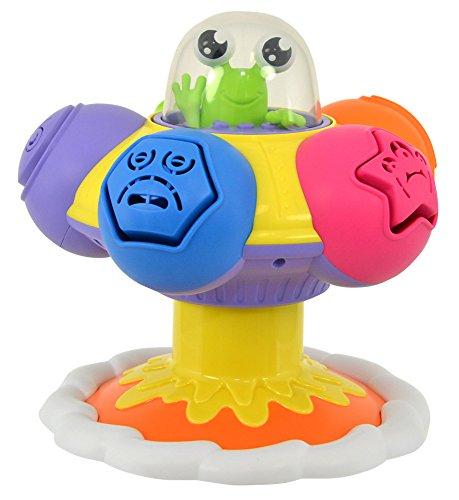 TOMY Toomies - Toupie Pop' Form Ma Soucoupe Volante E72611, Jouet d'Éveil Bébé, Toupie Enfant Multicolore, Jouet Intéractif Adapté aux Bébés de 10mois+