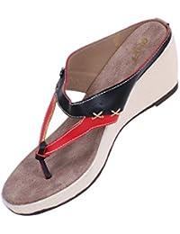 GNX Cross Strap Wedge Sandal - B07458SR5P