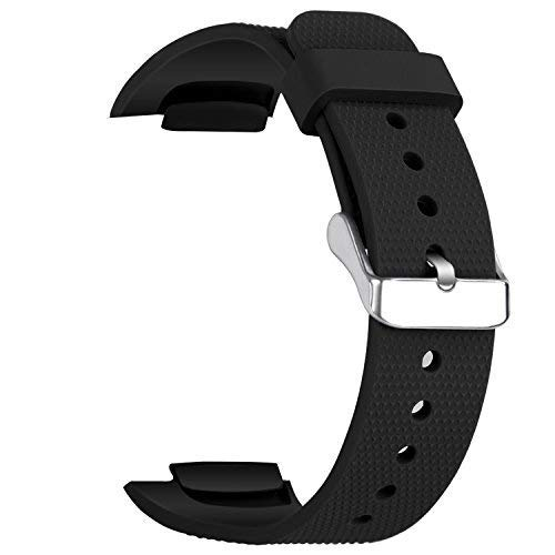 "Taslar Watch Band Soft Silicone Sport Strap for Samsung Gear Fit 2 SM-R360 / Fit 2 Pro Smart Watch (Fits 4.96""-8.38"") (Black)"